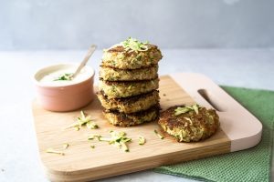 Courgette quinoa fritters