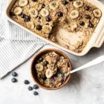 Blueberry and banana baked oatmeal