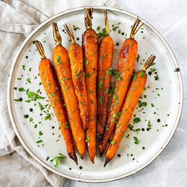 Honey Orange Roasted Carrots