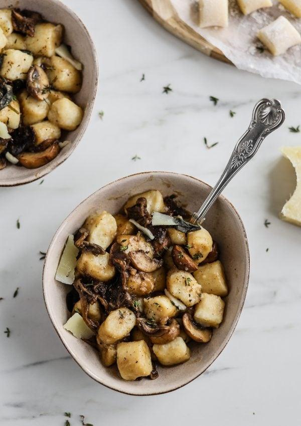 Mushroom and Sage Gnocchi