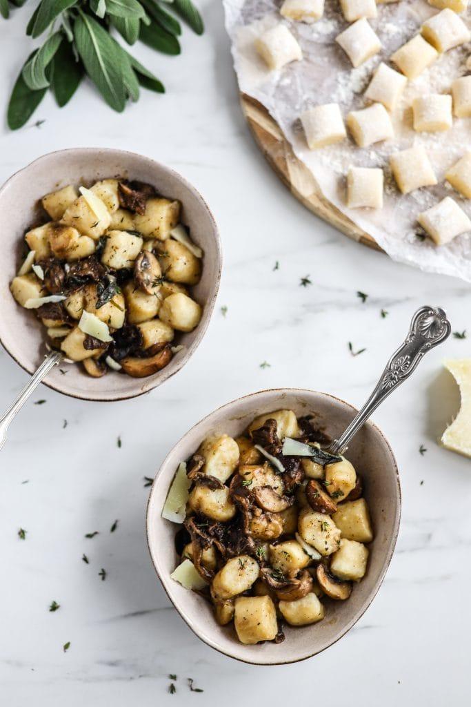Mushroom and sage gnochci
