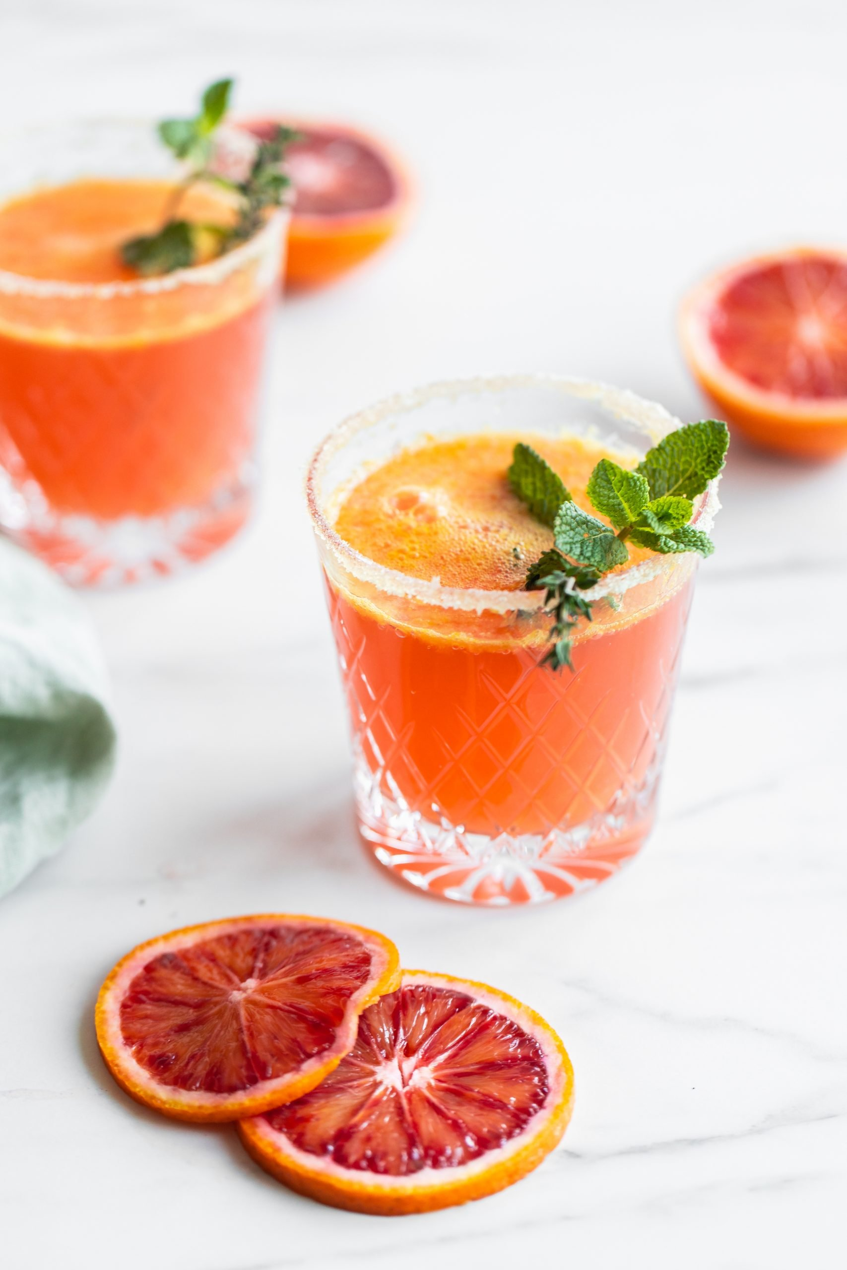 blood orange mocktails