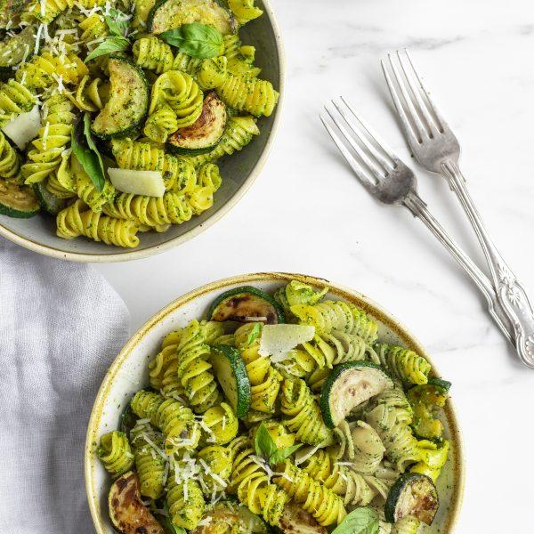 Courgette and Spinach Pesto Pasta