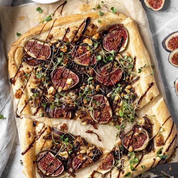 Fig and Caramelised Onion Tart